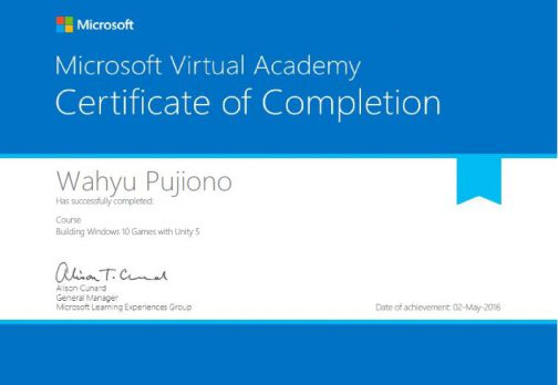 Building Windows 10 Game with Unity 5 Certificate